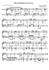Schatzle is frein : Complete Score by Albert (guitarist), Heinrich