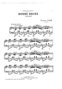 Bonne Brise, Op.244 : Complete score Volume Op.244 by Lack, Théodore
