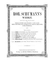 Phantasiestücke, Op.88 (Phantasiestücke ... Volume Op.88 by Schumann, Robert