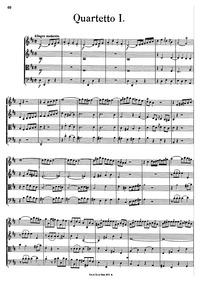 Quartetto I : Complete Score by Albrechtsberger, Johann Georg