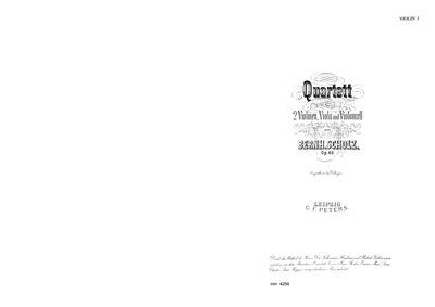 Preis-Quartett G f. 2 V., Vla u. Vcello:... Volume Op.46 by Scholz, Bernhard