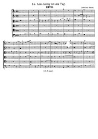 Also heilig ist der Tag : Complete Score by Senfl, Ludwig