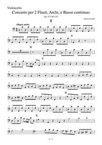 Concerto for 2 Flutes in C major, RV 533... Volume Op. 47/2, RV 533 by Vivaldi, antonio