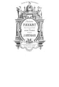 Madame Favart (Opéra comique en trois ac... by Offenbach, Jacques