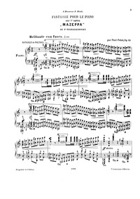 Reminiscences de l'opera 'Mazeppa', Op.8... Volume Op.83 by Pabst, Paul