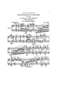 Paraphrase de Concert on 'La Belle au Bo... by Pabst, Paul