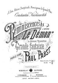Reminiscences de l'opéra 'Le démon' (Rem... by Pabst, Paul