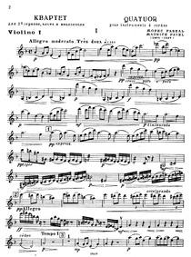 String Quartet (Quatuor à cordes) : Viol... Volume M.35 by Ravel, Maurice