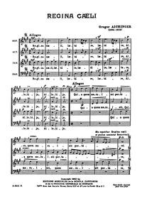 Regina caeli : Complete Score by Aichinger, Gregor