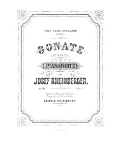 Piano Sonata No.3, Op.135 : Score Volume Op.135 by Rheinberger, Josef Gabriel