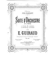 Suite d'orchestre No.1 : Complete score by Guiraud, Ernest