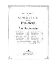 Feramors (Lyrisches Oper in drei Akten) ... by Rubinstein, Anton