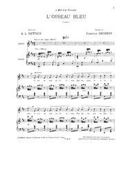 L'oiseau bleu : Complete Score by Decreus, Camille