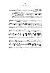 Pensée fugitive, Op.57 : Complete Score Volume Op.57 by Hauser, Miska