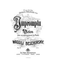 Impromptu, Op.22 : Score (Piano) Volume Op.22 by Bezekirsky, Vasily