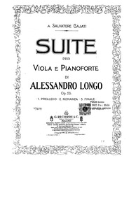 Suite for Viola and Piano, Op.53 : Piano... Volume Op.53 by Longo, Alessandro