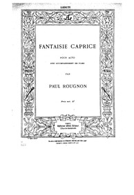 Fantaisie Caprice : Piano Score by Rougnon, Paul