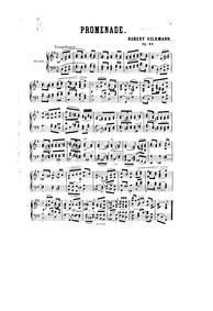 Esquisses du Voyageur / Wanderings : Com... Volume Op.23 by Volkmann, Robert
