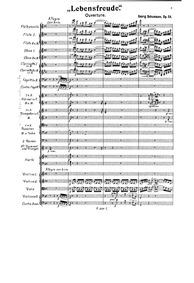 Lebensfreude, Op.54 (Lebensfreude, Ouver... Volume Op.54 by Schumann, Georg