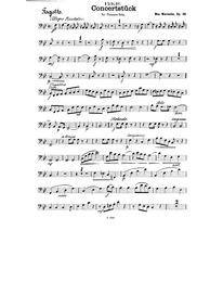 Concertpiece for Trombone, Op.28 : Basso... Volume Op.28 by Warnecke, Max