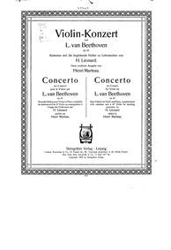 Violin Concerto in D major, Op.61 : Viol... Volume Op.61 by Beethoven, Ludwig van