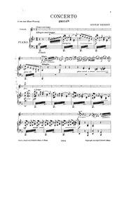 Violin Concerto : Violin and Piano Score by Ernest, Gustav