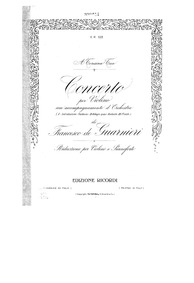 Violin Concerto (Concerto per violino co... by Guarnieri, Francesco de