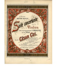 Suite concertante, Op.25 : Color title p... Volume Op.25 by Cui, César