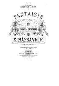 Fantaisie sur des thèmes russes, Op.30 (... Volume Op.30 by Nápravník, Eduard