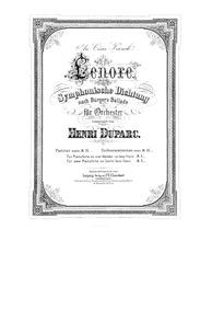 Lénore : Complete Score by Duparc, Henri