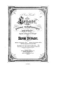 Lénore : Complete Score (French imprint) by Duparc, Henri