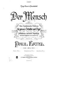 Der Mensch, Op.9 (Eine symphonische Dich... Volume Op.9 by Ertel, Paul