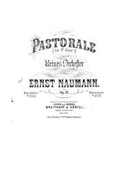 Pastorale (Pastorale (in F dur) für klei... Volume Op.16 by Naumann, Ernst