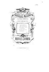 Petites aquarelles musicales : 1. Chanso... by Carman, Marius