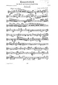 Konzertstück (Konzertstück für Harfe und... Volume Op.122 by Wilm, Nicolai von