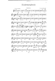 Kindersymphonie, Op.169 (Toy-Symphony) :... Volume Op.169 by Gurlitt, Cornelius