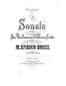 Violin Sonata No.2, Op.117 : Complete Sc... Volume Op.117 by Bossi, Marco Enrico