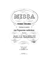 Mass in E major, Op.50 (Missa. Vocibus v... Volume Op.50 by Verhulst, Johannes