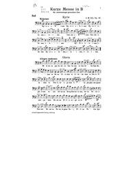 Kurze Messe in B, Op.40 (Kurze Messe, in... Volume Op.40 by Alt, Georg Martin