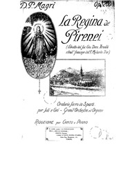 La regina dei Pirenei (Oratorio sacro in... Volume Op.200 by Magri, Pietro