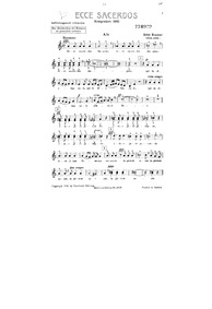 Ecce sacerdos magnus, WAB 13 : Alto Volume WAB 13 by Bruckner, Anton