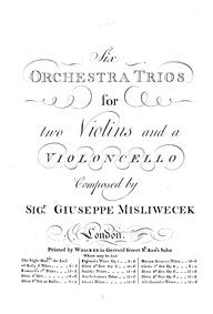 6 String Trios : Violin 2 by Mysliveček, Josef