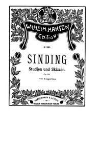 Studien und Skizzen, Op.82 : 7. Caprice Volume Op.82 by Sinding, Christian