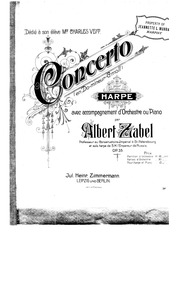 Harp Concerto, Op.35 : Harp Part Volume Op.35 by Zabel, Albert