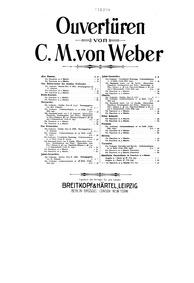 Der Freischütz, Op.77 (Eine romantische ... Volume Op.77 ; J.277 by Weber, Carl Maria von