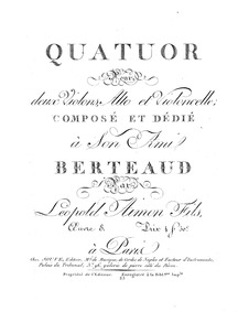 String Quartet in E minor (Quatuor pour ... Volume Op.8 by Aimon, Léopold
