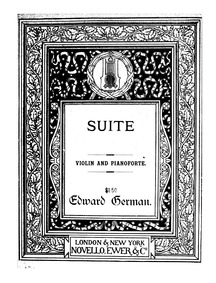 Suite : Piano Score by German, Edward