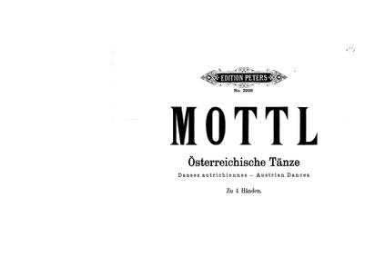 Austrian Dances : Complete Score by Mottl, Felix
