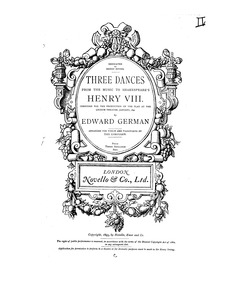 Henry VIII : Piano Score by German, Edward