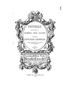 Romeo and Juliet : Piano Score by German, Edward